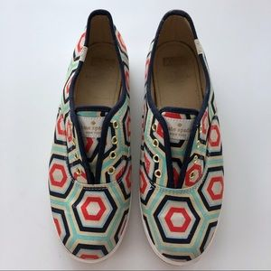 Kate Spade for KEDS Geometric Print Slip On Shoes